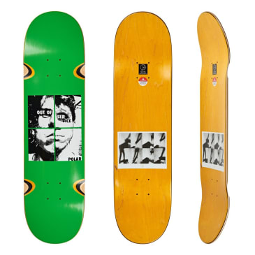 Polar Skate Co Dane Brady Out Of Service Green Skateboard Deck - 8.25""