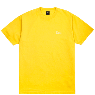 Dime Classic Small Logo T-Shirt - Yellow
