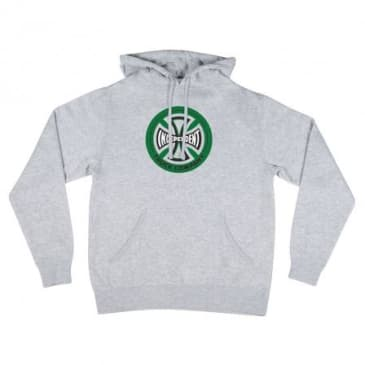Independent Hollow Cross Hoodie Grey/Green