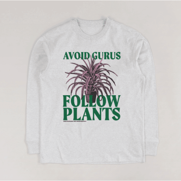 Garden - Avoid Gurus Longsleeve T-Shirt - Grey
