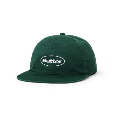 ButterGoods WASHED BADGE 6 PANEL CAP, FOREST