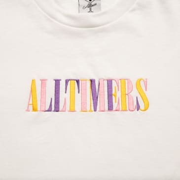 Alltimers Midtown LS Embroidered Tee White
