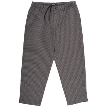 "THEORIES-""STAMP LOUNG PANT""(BROWN/BLUE CHECK)"