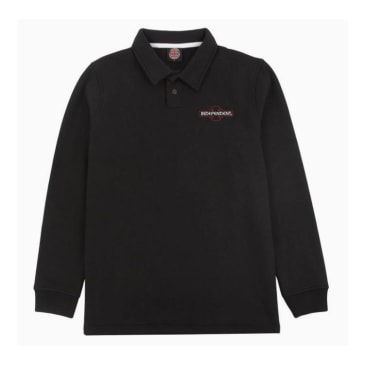 Independent - Original Bar Cross Embroidered Polo Sweatshirt - Black