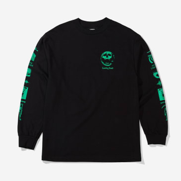 """CRAWLING DEATH- """" INTO THE UNKNWON LONG SLEEVE T- SHIRT"""" (BLACK)"""