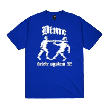 Dime Delete T-Shirt - Cobalt