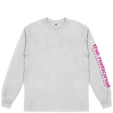 The National Skateboard Co Hook Up Long Sleeve T-Shirt - Heather Grey