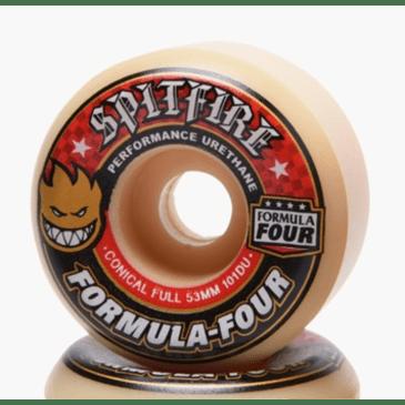 Spitfire Formula Four Conical Full Wheels Set Natural 53mm/101a