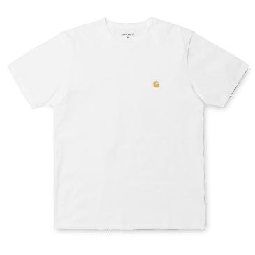 Carhartt WIP S/S Chase T-Shirt - White/Gold