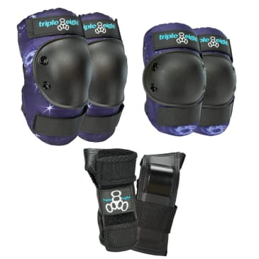 Triple Eight Saver Series Pads 3 Pack Galaxy Color Collection (Knee/Elbow/Wrist)