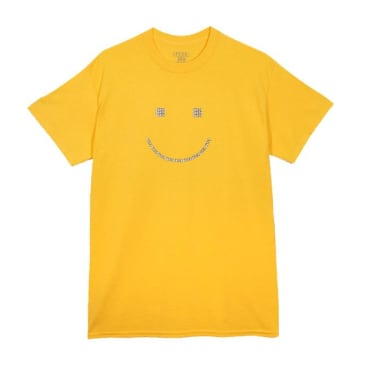 Baker Skateboards Smiley T-Shirt - Yellow