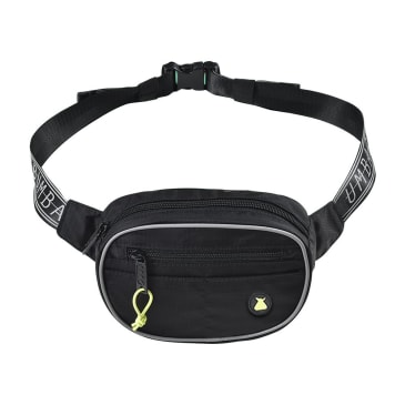 bumbag hi viz mini mega hip bag (black)