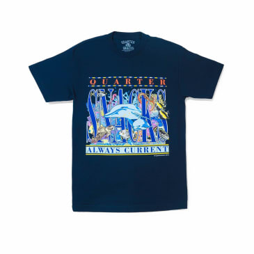 Quartersnacks Always Current T-Shirt - Navy