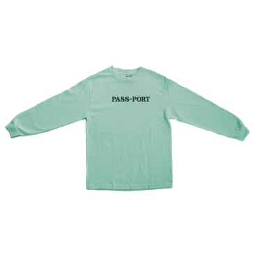 Pass~Port Official Embroidered Long Sleeve T-Shirt - Celadon