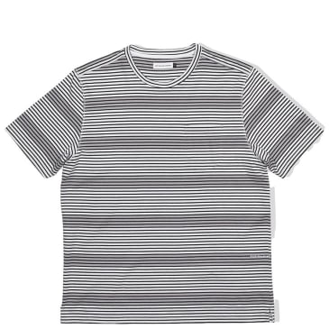 Pop Trading Company Harde Stripe Pocket T-Shirt - Anthracite / White