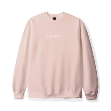 "BUTTER GOODS-""BADGE PUFF LOGO CREW NECK""(DUSTY PINK)"