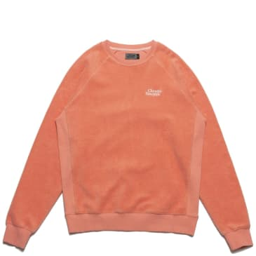 Chrystie NYC PRM Reversed Fleece Crewneck - Coral