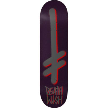 Deathwith Skateboards Gang Logo Skateboard Deck Pearl/Purple - 8.475