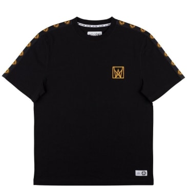 Welcome Skateboards Chalice Taped T-Shirt - Black / Gold