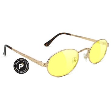 Glassy Zion Polarized Sunglasses - Gold / Yellow