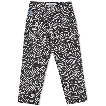 Polar Skate Co '93 Canvas Cell Pant - Black / White