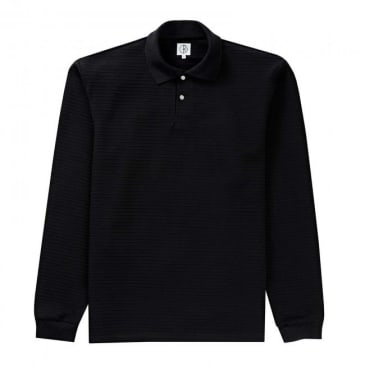 Polar Skate Co. Striped Pique Long Sleeve Shirt - Black
