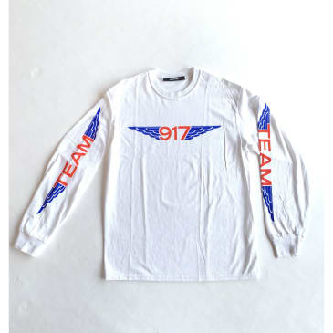 917 Team Wings L/S - White
