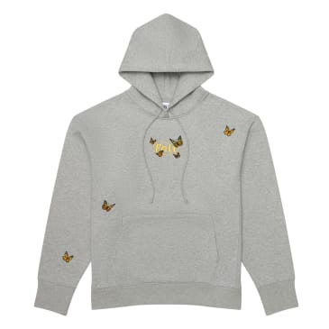 """FELT- """"BUTTERFLY EMBROIDERED HOODIE"""" (HEATHER GREY)"""