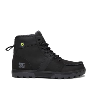 DC Woodland Leather Lace Up Winter Boots - Armor / Black