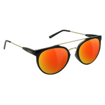 Glassy Chuck Black/Red Mirror Sunglasses