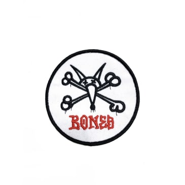 Bones Wheels Iron on Patch Vato Rat