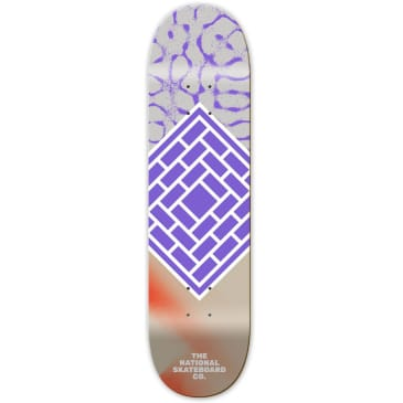 "The National Skateboard Co. Classic Purple Deck 8.125"" (Mid Concave)"
