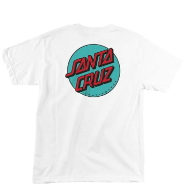 Santa Cruz Other Dot T-Shirt - White / Teal