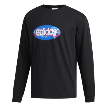 adidas Ovalo Long Sleeve T-Shirt - Black