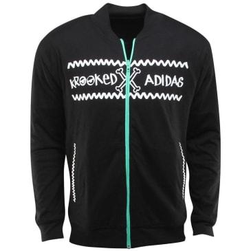 adidas Skateboarding x Krooked Track Jacket - Black