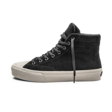 Straye Venice Shoes - Black Bone Suede