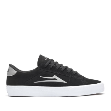 Lakai Newport Suede Skate Shoes - Black & Grey