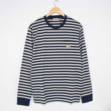 Carhartt WIP - Long Sleeve Parker Pocket T-Shirt - Admiral / Cinder
