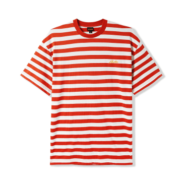 """BUTTER GOODS- """"HUME STRIPED T-SHIRT"""" (RED)"""