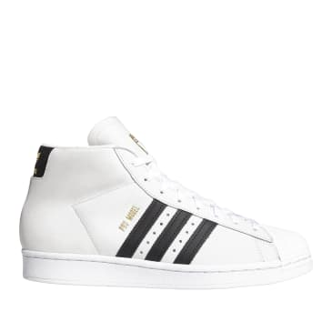 adidas Skateboarding Pro Model Shoes - FTWR White / Core Black / Gold Met