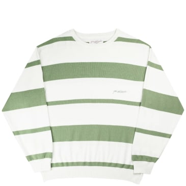 Yardsale Val Knit Sweatshirt - Fern / White / Offwhite