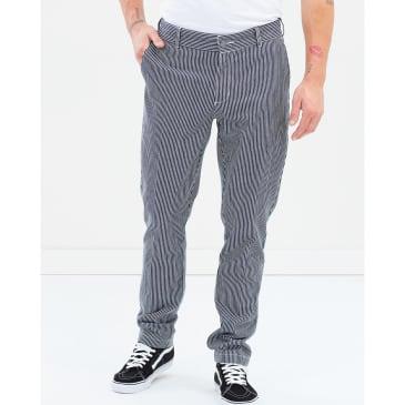 Dickies '67 894 Slim Fit Straight Leg Work Pant - Hickory Stripe