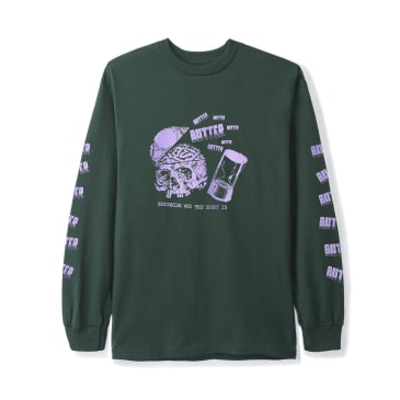 Butter Goods Enemy Long Sleeve Tee, Forest