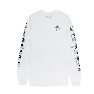 Fucking Awesome - Fucking Awesome Block Letters L/S T-Shirt   White
