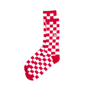 Vans Checkerboard crew sock, red-white check