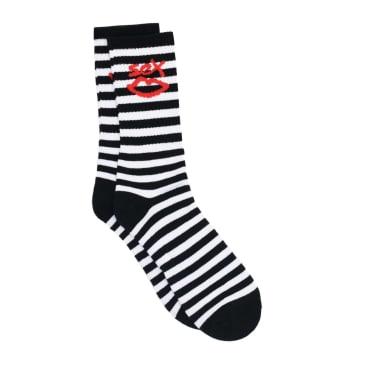 Sex Skateboards Kidda Socks - Black/White