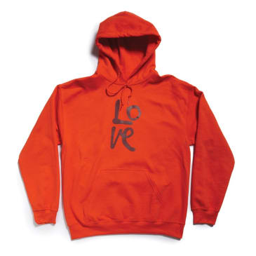 Quiet Life Love Hood Sweatshirt Orange