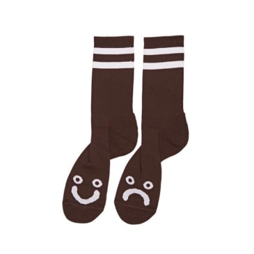 Polar Skate Co. - Happy / Sad Socks - Brown