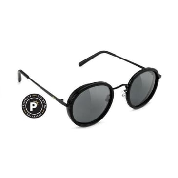 Glassy - Lincoln Polarized Sunglasses - Matte Black