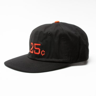 Quartersnacks 25s 6 Panel Black